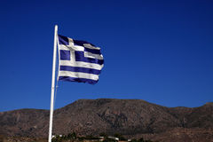 Greek flag Royalty Free Stock Photography