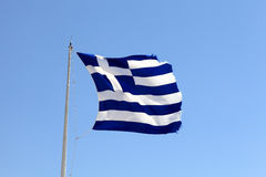 Greek flag Stock Photos