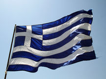 Greek flag. The greek flag is a symbol for freedom stock photo