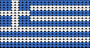 Greek flag. An illustration of the Greek flag composed of hearts Stock Photos