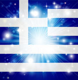 Greek flag background Stock Photos