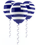 Greek flag balloon Stock Image