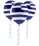 Greek flag balloon. On three party balloons Stock Image