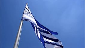 Greek flag stock video footage