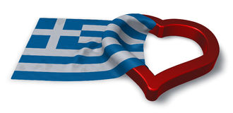 Greek flag and heart symbol Royalty Free Stock Photos
