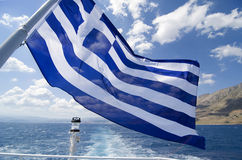Greek flag, horizontal Stock Images