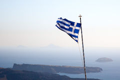 Greek flag Royalty Free Stock Image