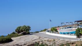 Greek flag on Kos island Royalty Free Stock Image