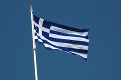 Greek flag -national symbol Stock Photography