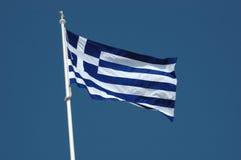 Greek flag -national symbol stock photography
