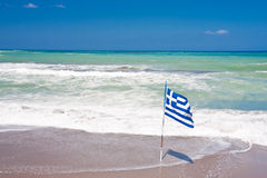 Greek flag Royalty Free Stock Photography