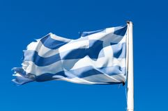 Greek flag Stock Image