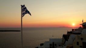 Greek flag stock video footage