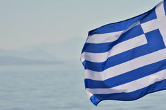 Greek flag Stock Photography
