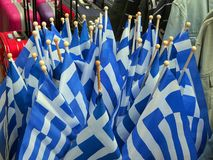 Greek Flags, Athens Royalty Free Stock Photos