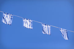 Greek flags Stock Photography