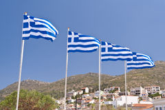 Greek flags Royalty Free Stock Image