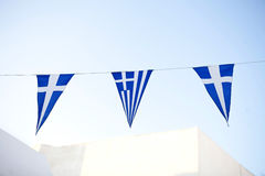 Greek Flags Royalty Free Stock Photo
