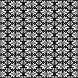 Greek flower seamless texture pattern. Seamless pattern texture with antique greek anphor flower decoration in a black background. Wrapping paper with geometric Stock Photos