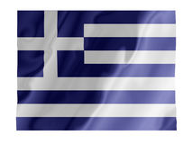 Greek fluttering. Fluttering image of the Greek national flag Royalty Free Stock Images