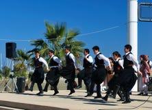 Greek folklore dance Royalty Free Stock Photo