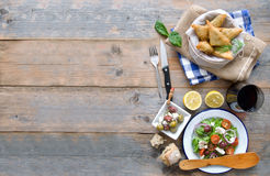 Greek food background Stock Photography