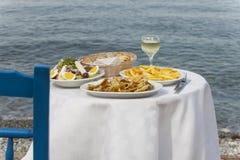 Greek food outdoor Stock Photo