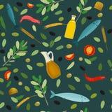 Greek Food Pattern Royalty Free Stock Images