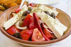 Greek  food, salad. Greek cuisineis a Mediterranean cuisine Royalty Free Stock Image