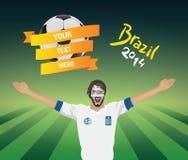 Greek football fan Stock Images