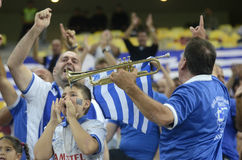 Greek football fans Stock Images