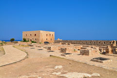 Greek fortress armory. Rethymno city Greece Fortezza fortress armory landmark architecture Royalty Free Stock Image