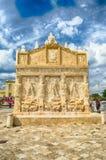 Greek Fountain, iconic landmark in Gallipoli, Apulia, Italy Royalty Free Stock Image