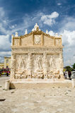 Greek Fountain, iconic landmark in Gallipoli, Apulia, Italy Stock Image