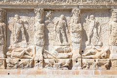 GALLIPOLI, ITALY - Greek fountain, 3rd century BC Royalty Free Stock Image