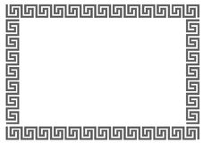 Greek frame. Greek frame on white background.Greek frame on white background.Vector Stock Photos