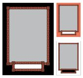 Greek Frame 3. A Greek frame in three colors: black, white and tropical pink (resembling the color of antique vases). Of course you can replace them with Stock Photography