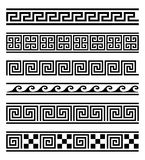 Greek frames vector collection. Vector collection of 6 greek style geometric frames  on white background. Vector elements for your design Royalty Free Stock Photo