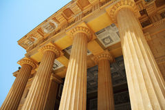 Greek freestone columns Royalty Free Stock Photo