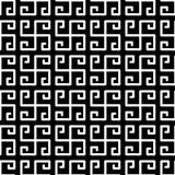 Greek Fret Meander Squares Seamless Pattern