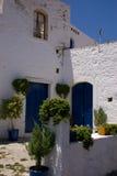 Greek front courtyard Stock Photos
