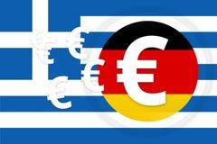Greek germany. Graphic illustration design Royalty Free Stock Image