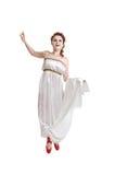 Greek girl dancing Stock Photos