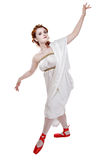 Greek girl dancing Royalty Free Stock Photography
