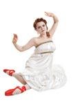 Greek girl dancing Royalty Free Stock Photo