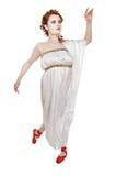 Greek girl dancing Stock Image