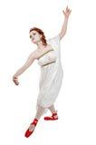 Greek girl dancing Stock Images