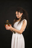Greek girl with jug Royalty Free Stock Photography