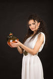 Greek girl with jug Stock Images