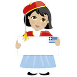 Greek Girl Sign Royalty Free Stock Photo